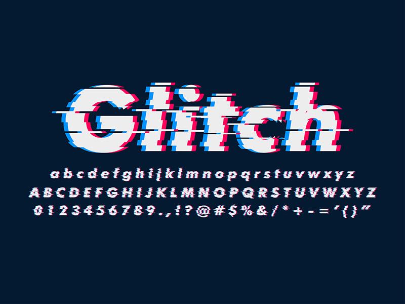 Modern Glitch Font Effect