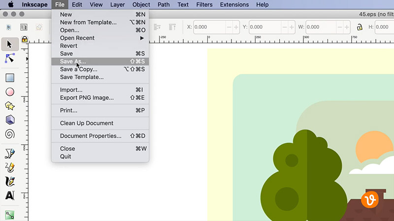 Saving Vector in Inkscape
