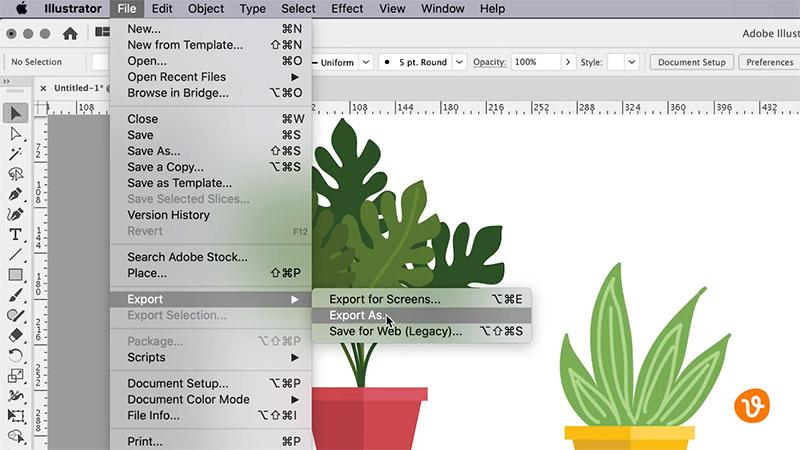 Export raster image from Illustrator