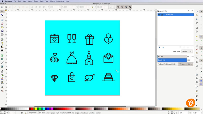 Export Transparent PNG from Vector File in Inkscape