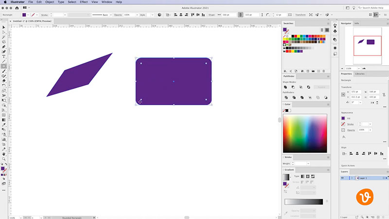 Rounded Rectangle in Illustrator
