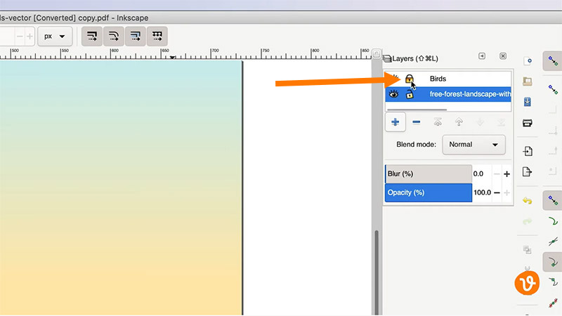 Unlocking Layers in Inkscape