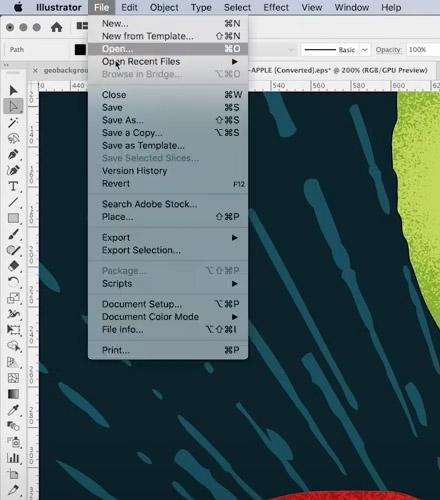 Open EPS in Illustrator